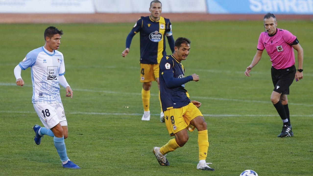 Fernando Vázquez, el domingo en el estadio Vero Boquete