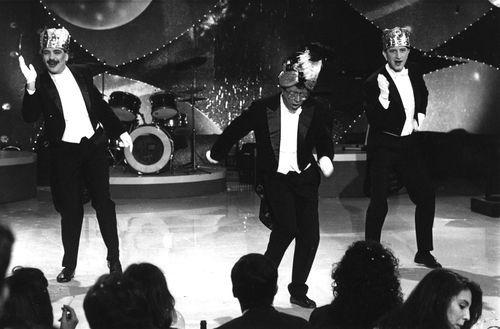 Puturrú de Fua, con Pepe Gros a la derecha, en una actuación en la TVG