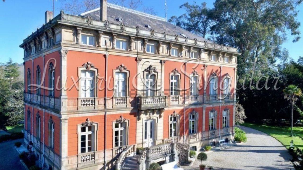 El palacete del siglo XIX que se vende en Somió por 8,25 milones de euros, en Gijón.El palacete del siglo XIX que se vende en Somió por 8,25 milones de euros