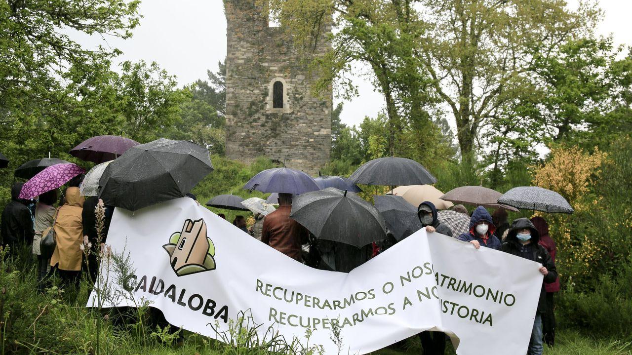 Lugares para visitar en Lugo en un día gris.Asociaciones de Terra Chá y de otros municipios se concentraron ante la torre en mayo