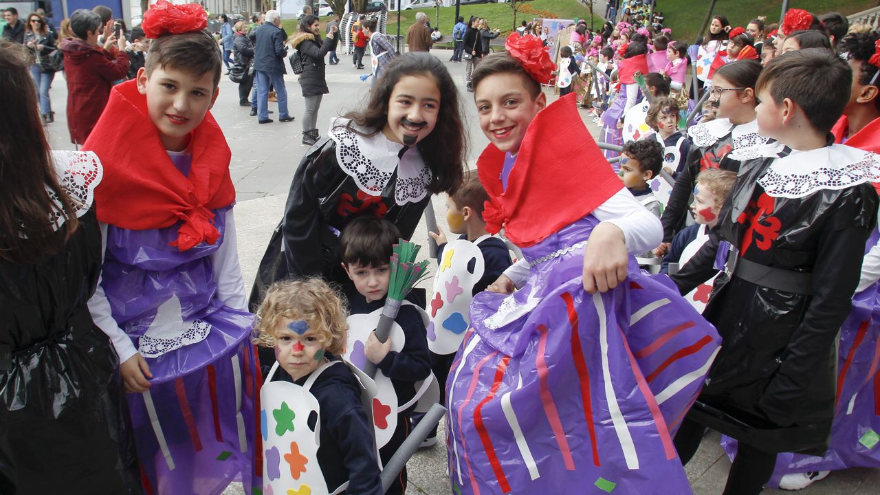 El Carnaval llega a los colegios de Ferrol.Roi Méndez