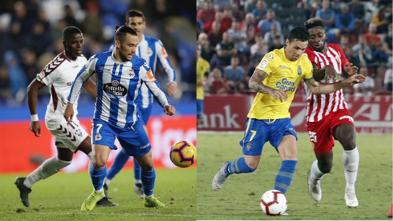 Las mejores imágenes del Deportivo - Las Palmas.Pepe Mel en sala de prensa