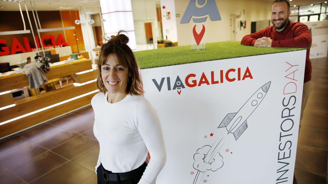 Luísa Novais, en una de sus visitas a Oviedo