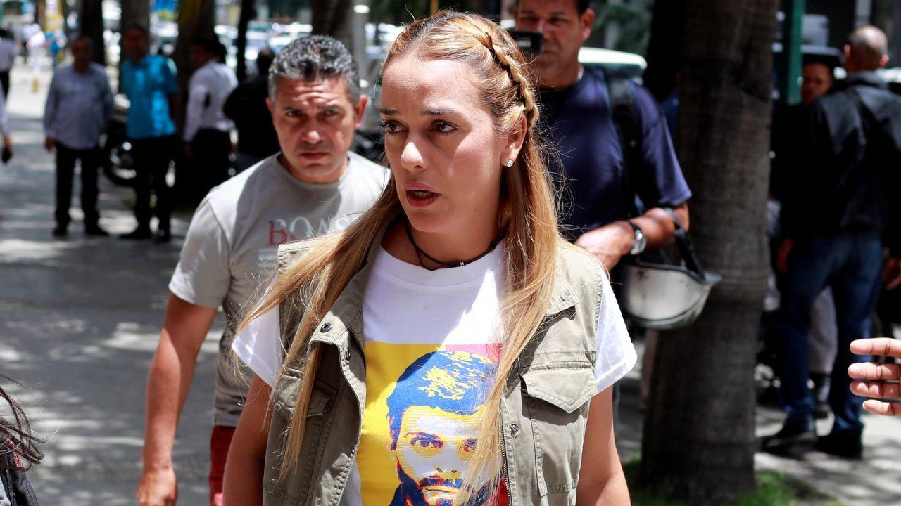 Rueda de prensa de partidos opositores al chavismo en Caracas tras la detención de Leopoldo Lopez y Antonio Ledezma