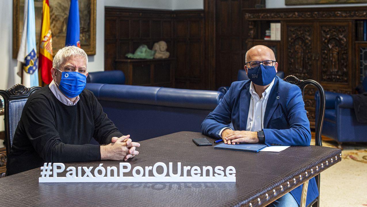 Junta de´area de urbanismo, presidida por el alcalde de Ourense, Gonzalo Jácome