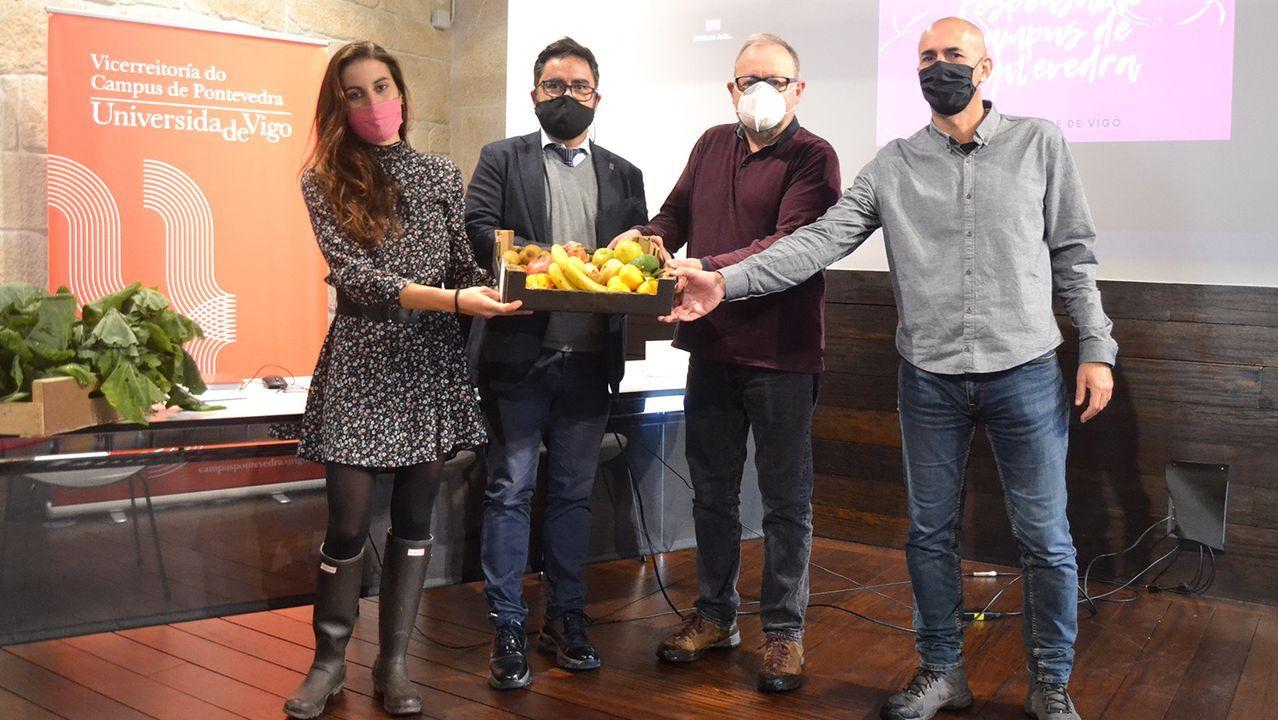 El grupo de consumo Campus de Pontevedra se presentó este martes en la Casa das Campás, sede de la Vicerreitoría