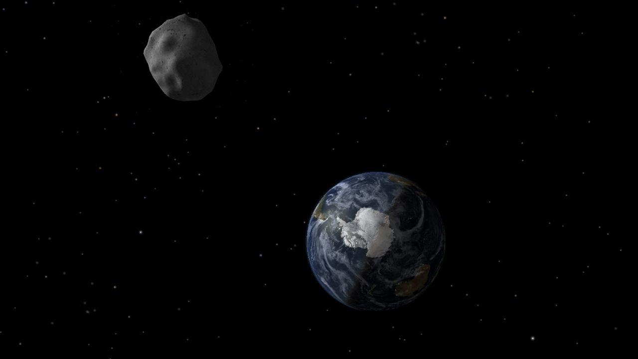 La astrofísica gallega que reina en la NASA.Recreación de un asteroide acercándose a la Tierra