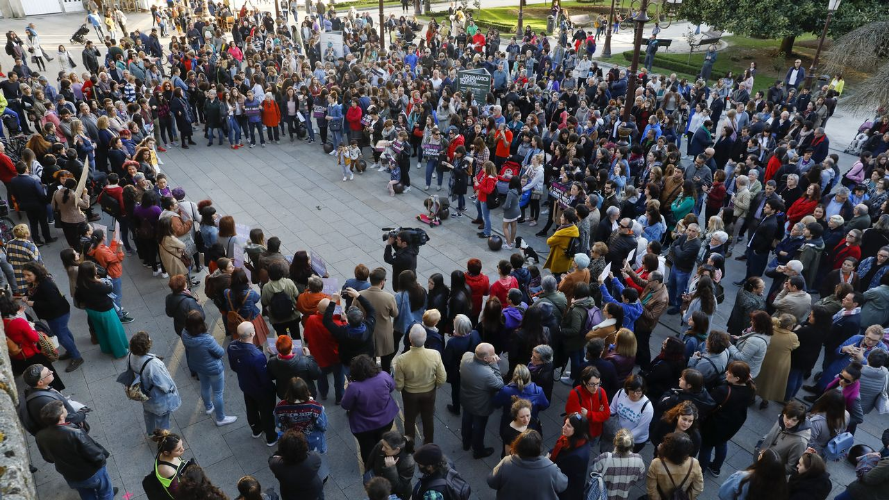 Protesta en Lugo