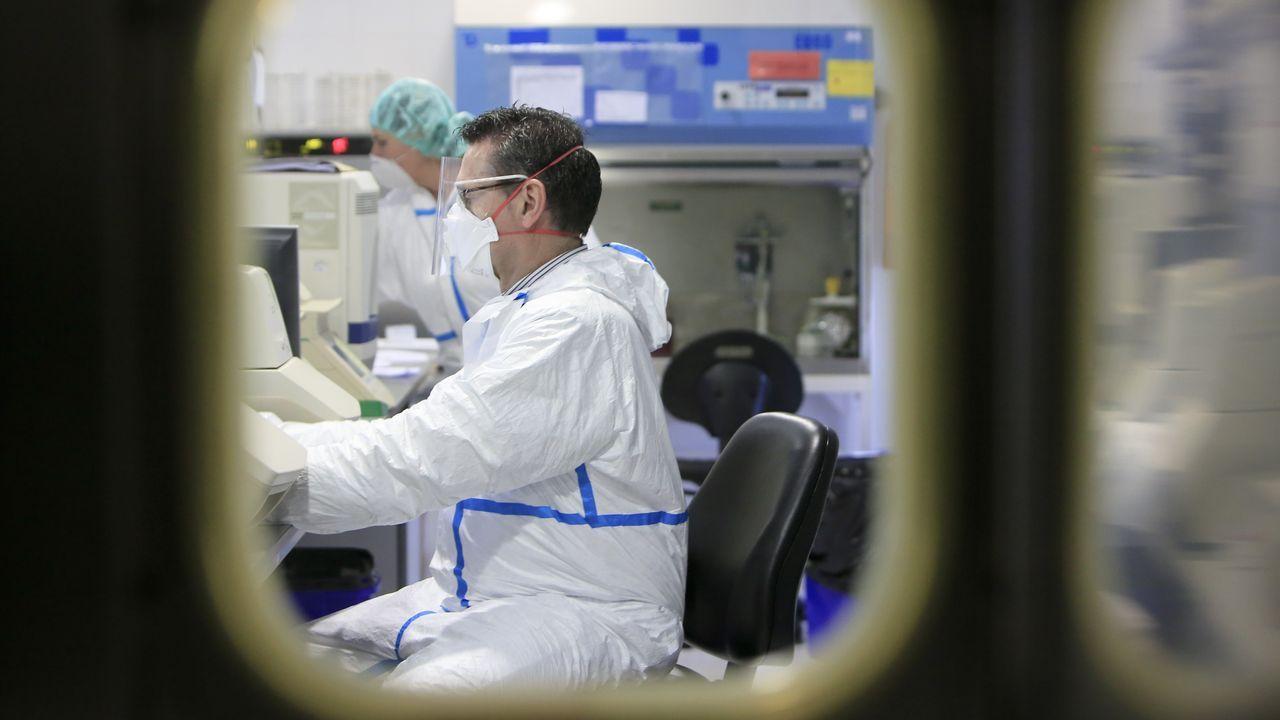 Imagen de un laboratorio de Sanidad en Lugo