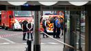 La policía y la gendarmería se desplegaron por la estación de autobuses de Villeurbanne, donde tuvo lugar el ataque