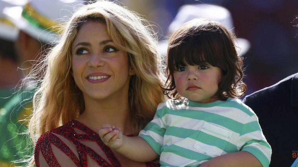 Eurovisión 2015: Los participantes en la final.Shakira con su primer hijo