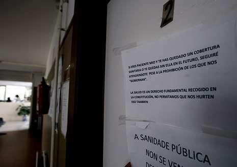 El cartel identifica la consulta en el Centro de Salud de Baltar.