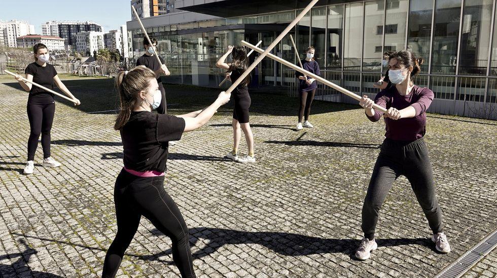 Ejercicio en la escuela de arte dramático, en Vigo