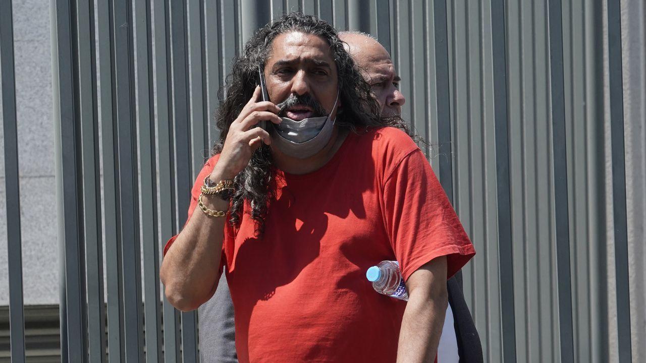 Diego el Cigala a su salida del juzgado el pasado día 10 por una denuncia de violencia machista