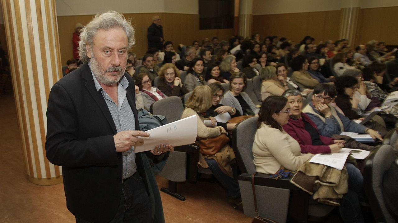 Julio Llamazares, durante una visita a A Coruña