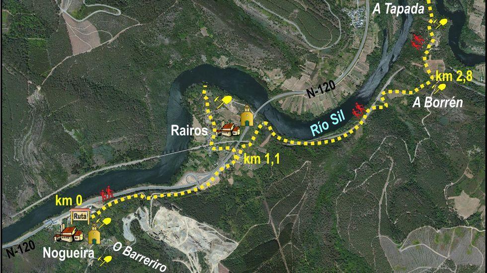 Viaducto ferrovario de Rairos visto desde la ruta