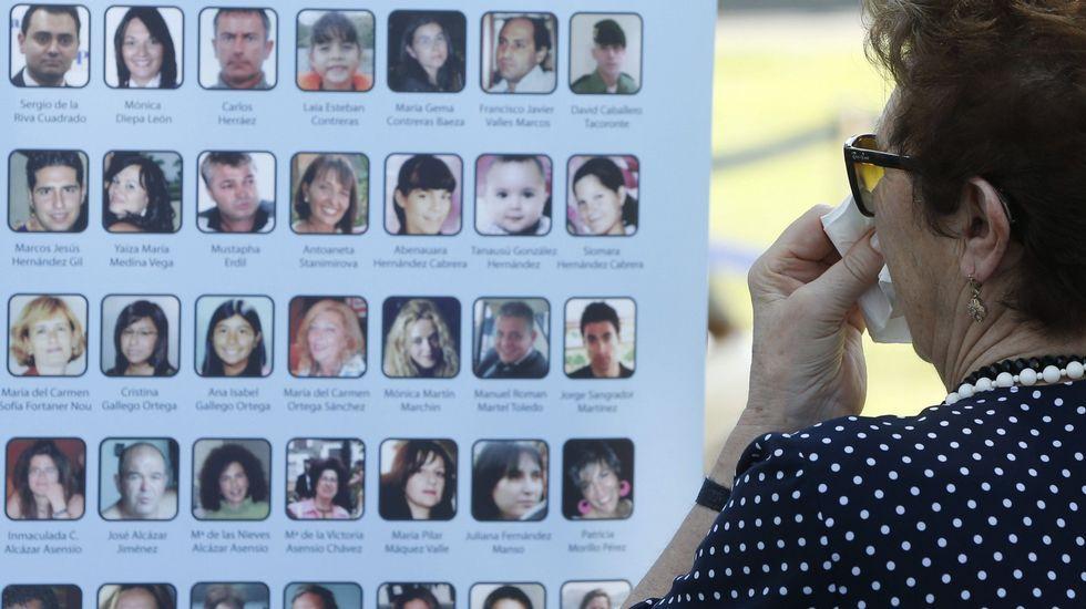 Homenajea las víctimas del accidente de Spanair