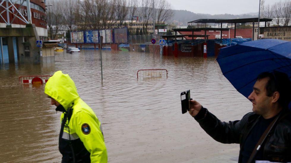 Inundaciones en Balaídos, en Vigo.