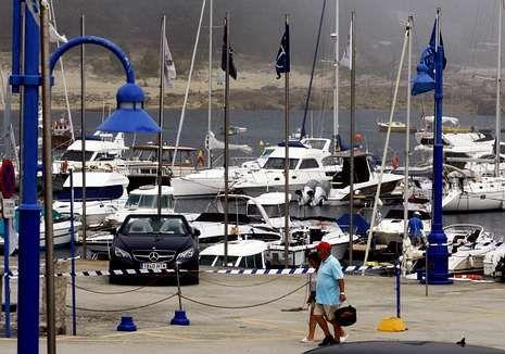 El puerto deportivo de Pedras Negras en O Grove.