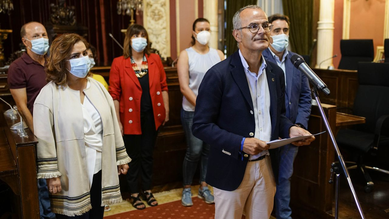 El grupo municipal del PP en una imagen de archivo del mes de septiembre, cuando anunciaron que rompían su pacto con Jácome
