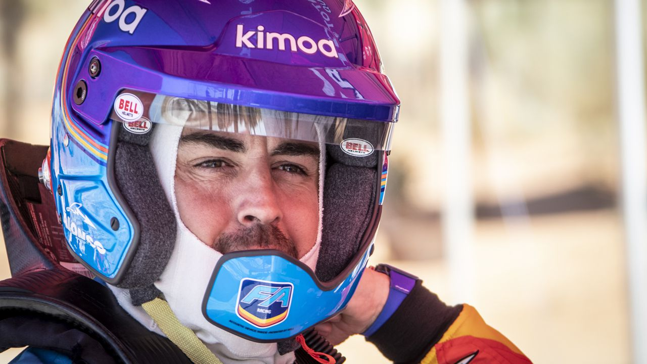 Fernando Alonso, Toyota, Rallye Marruecos.Fernando Alonso preparado para probar el Toyota del Dakar