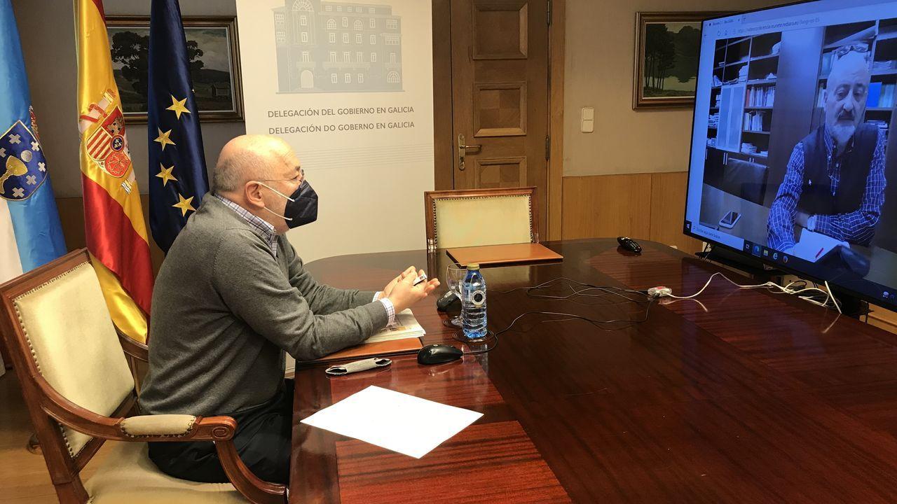 Javier Losada se reunió ayer con el presidente de la Confederación Hidrográfica del Miño-Sil para analizar estos presupuestos
