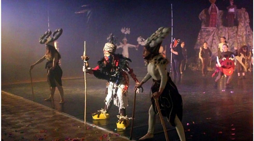 El eclipse anular de sol, en streaming.Imagen de una representación del musical en las instalaciones de Santa María del Mar