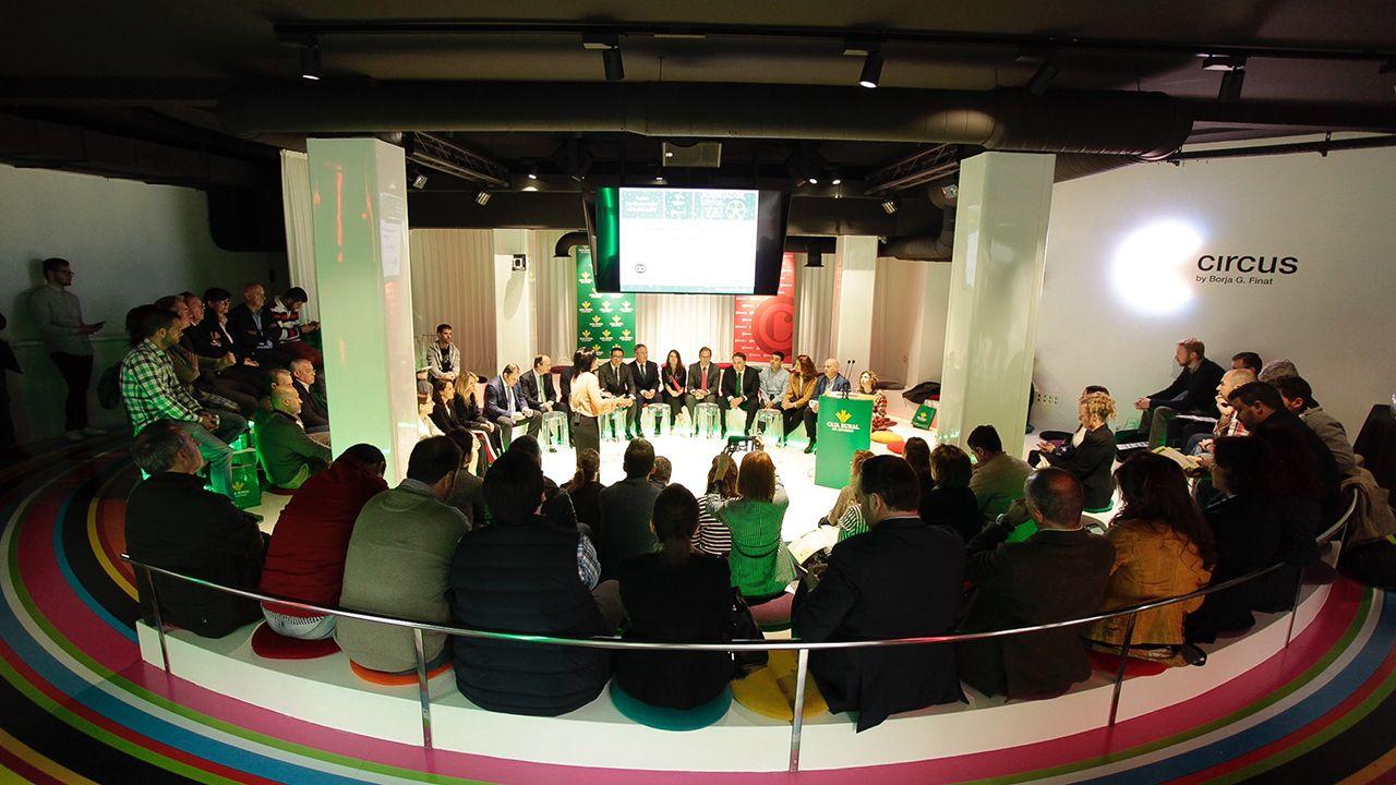 Presentación del programa «Agendados, Listos, Ya» impulsado por Caja Rural y la Cámara de Comercio de Oviedo