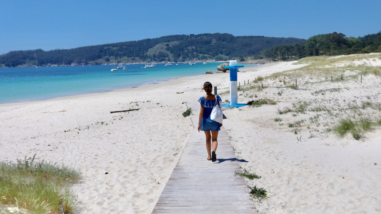 Playa de Nerga, en O Morrazo