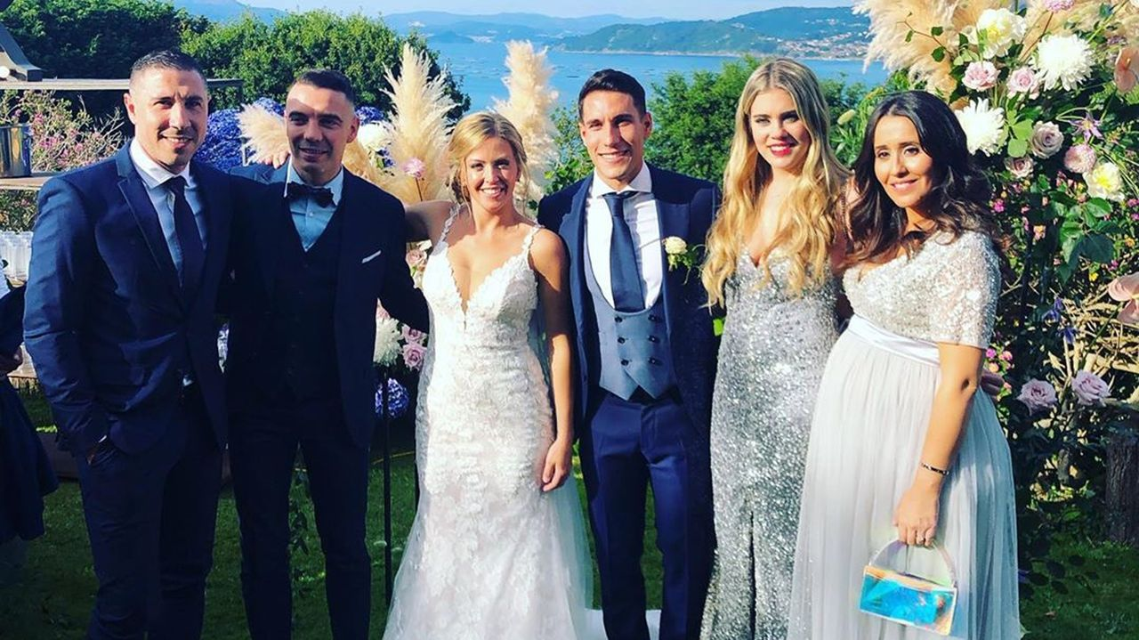 La boda de Hugo Mallo y Carla Caíño, en imágenes