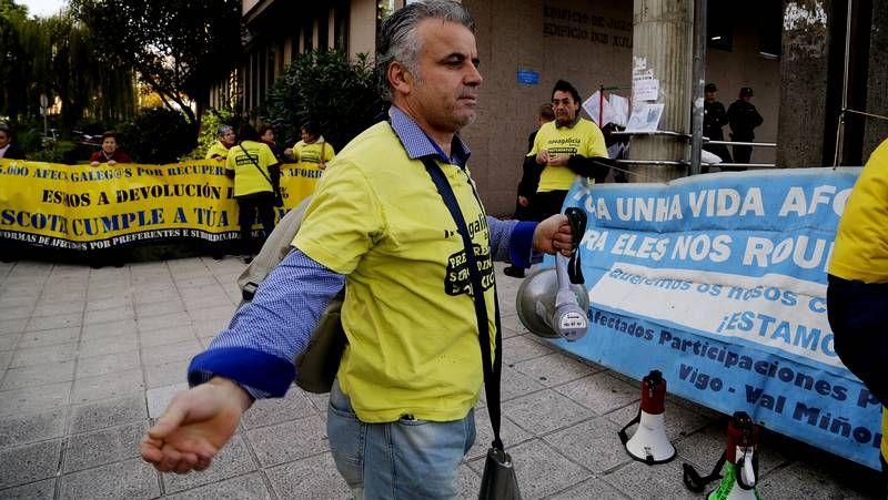 Protesta de los preferentistas en Vigo