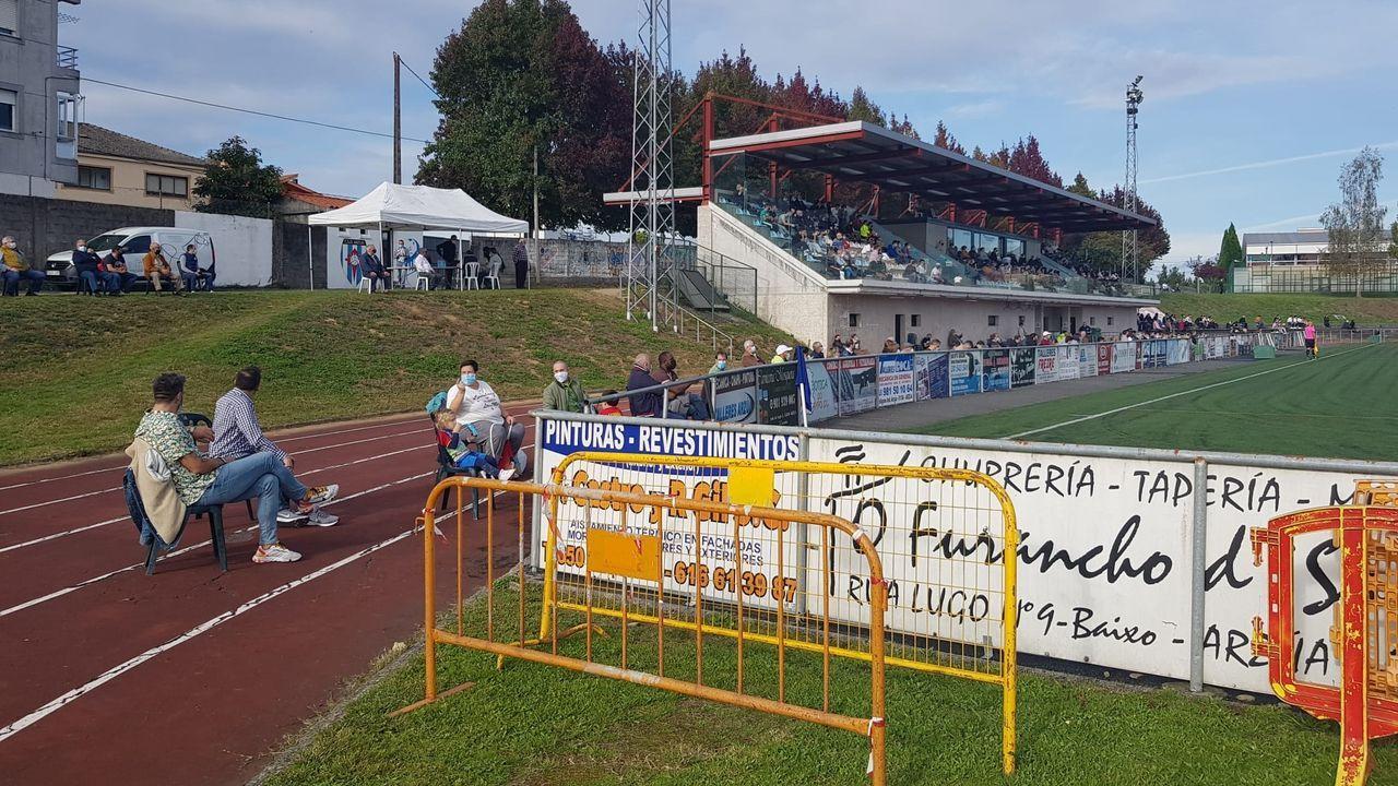 Un lance del partido disputado esta tarde en Viveiro