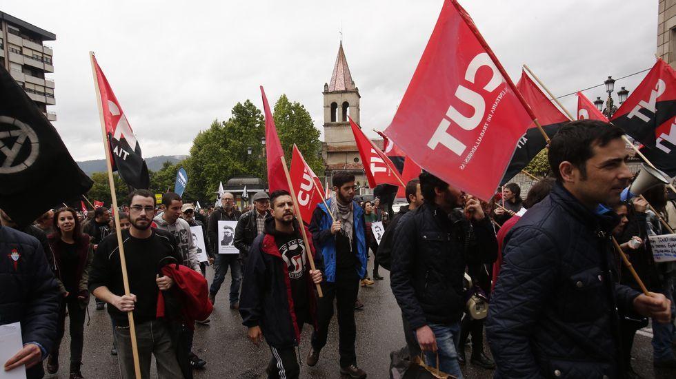 Manifestación de la CNT en Ourense