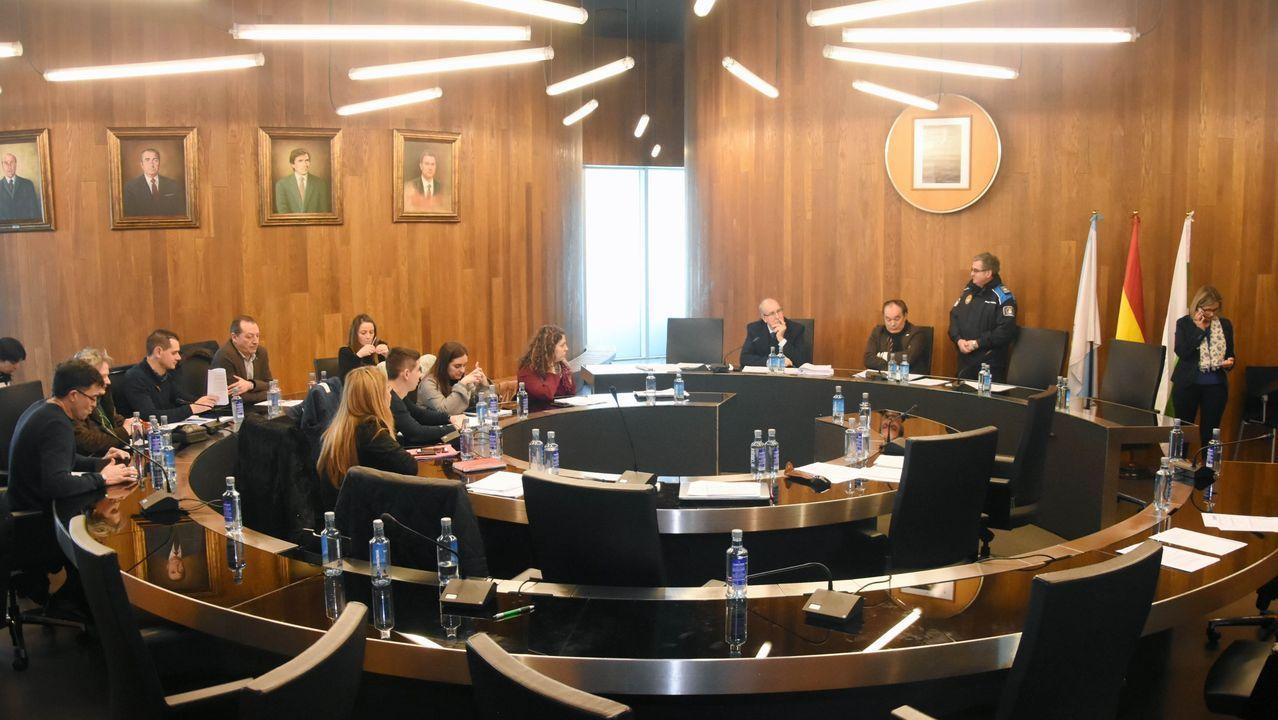 Imagen de archivo de un pleno celebrado en el concello de Lalín