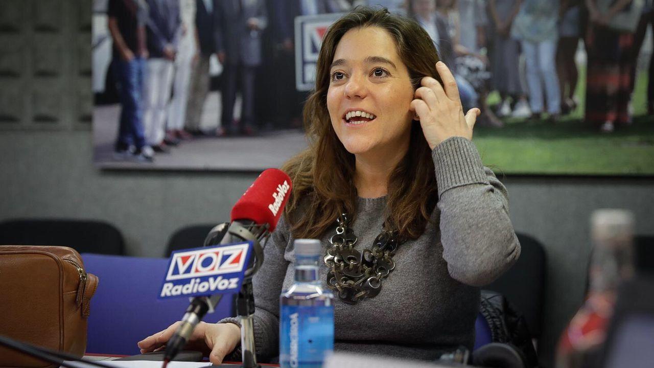 orzan.La alcaldesa Inés Rey, en Radiovoz.