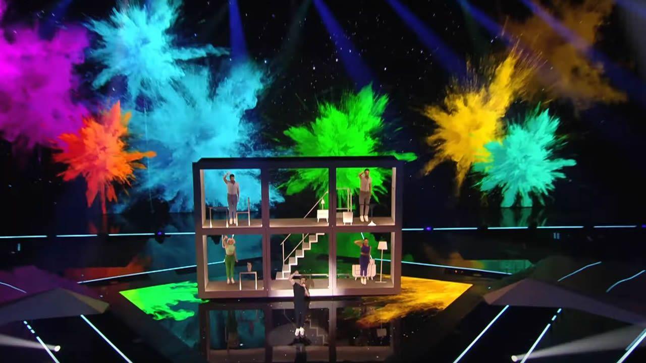 Eurovisión:Así se verá el sábado la actuación de Miki.La representante de Australia, Kate Miller-Heidke, durante la primera semifinal