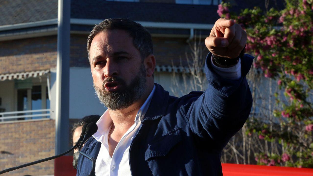 La indignada reacción de una diputada del PP ante la denuncia «del apartheid lingüístico en Galicia» de Santiago Abascal.Santiago Abascal, este miércoles en el Congreso de los Diputados