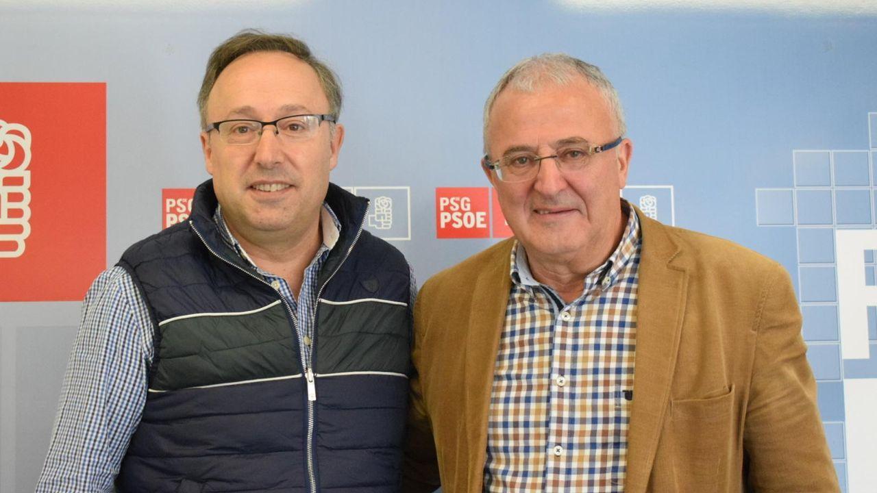 Jesús Blanco, a la derecha, junto a Juan Carlos Francisco Rivera