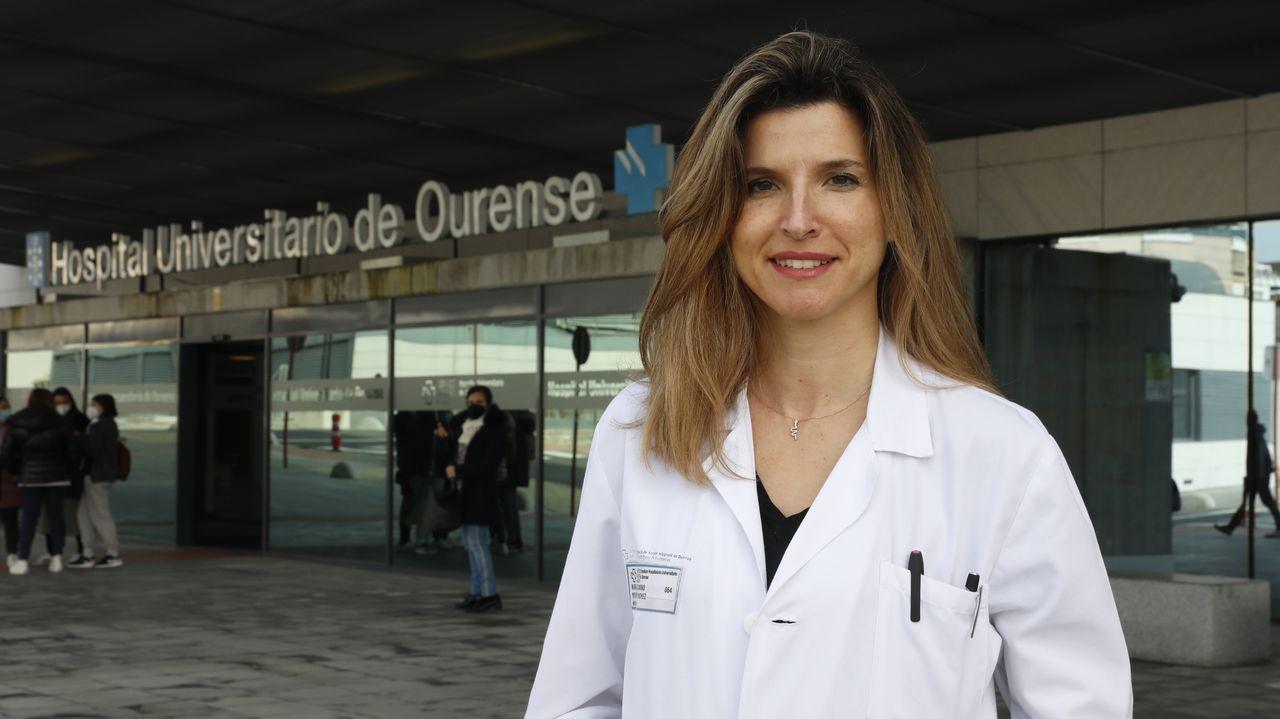 Camino Mouronte fue la internista del CHUO que atendió a la primera paciente que dio positivo en covid en Ourense