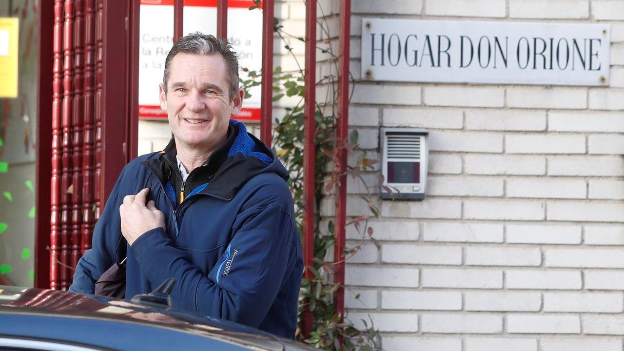 Urdangarin, en el Hogar Don Oriane de Pozuelo de Alcarcón, donde realiza labores de voluntariado
