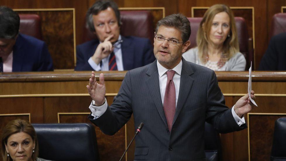 El fiscal general asegura «sentirse satisfecho» por la designación de Moix en Anticorrupción.El fiscal general del Estado, José Manuel Maza