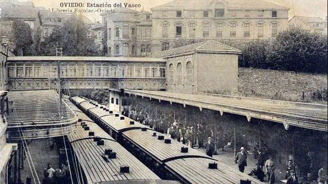 Imagen de principios de siglo de la Estación de El Vasco, que fue diseñada por el ingeniero Francisco Durán