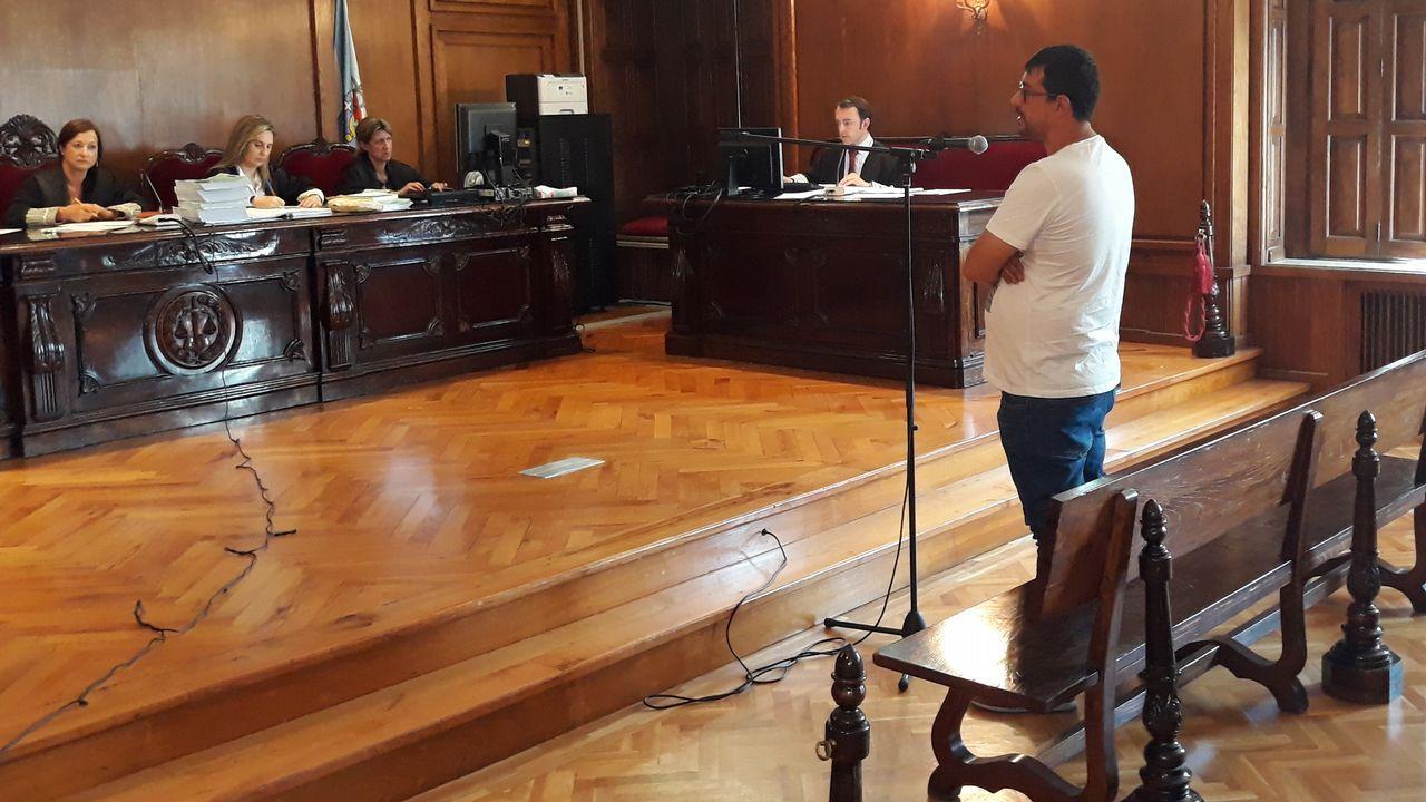Las vidas que truncó la tragedia de Génova.Sede de la Audiencia Provincial en Oviedo