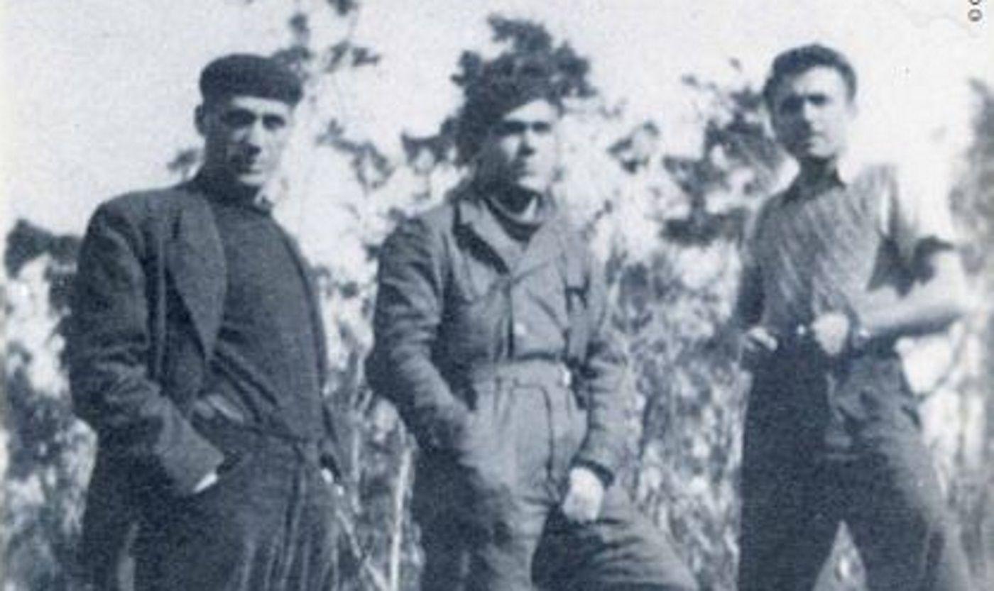 Jesús Iglesias Escourido (Tizón), Evaristo Candela y Francisco Gómez. Foto Carlos Parrado. Archivo Martín Fernández