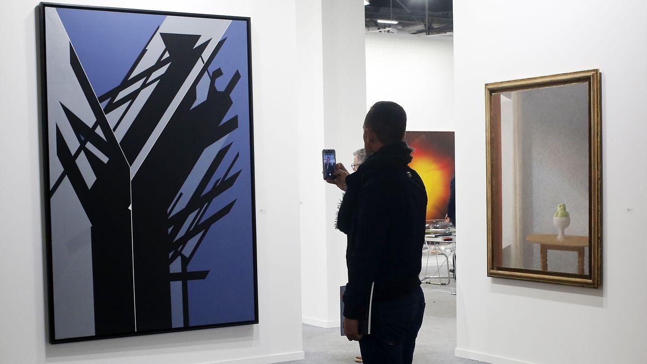 Un gran Palazuelo de 1998 y un delicioso Xavier Valls en la galería Fernández-Braso