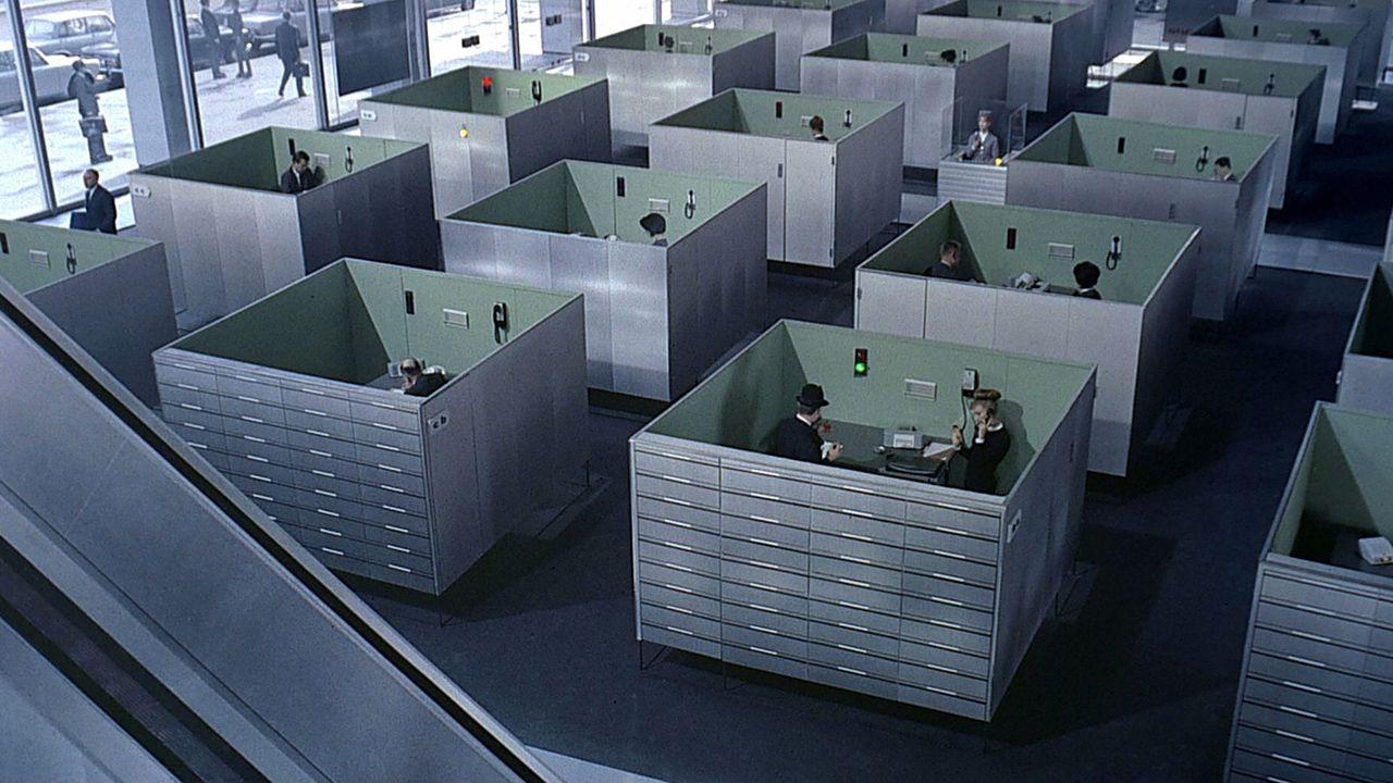 Fotograma de la película 'Play Time' de Jacques Tati