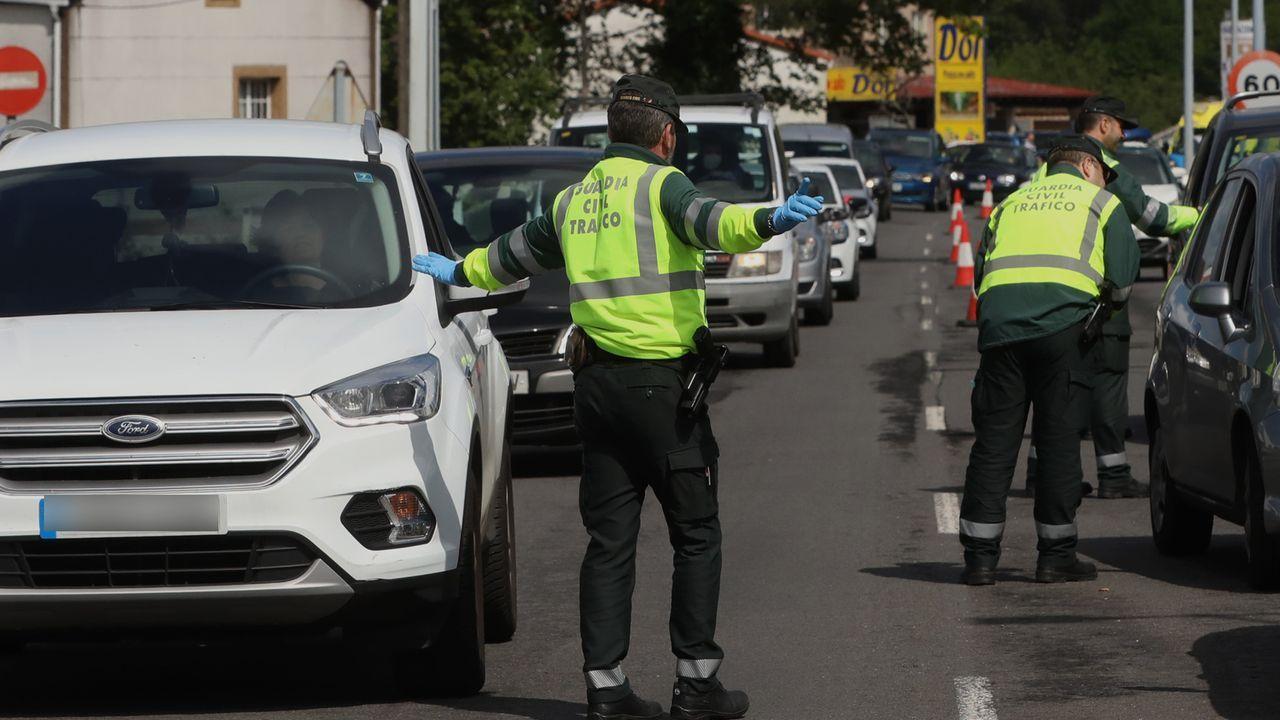 Un control de la Guardia Civil para vigilar el cumplimiento del estado de alarma