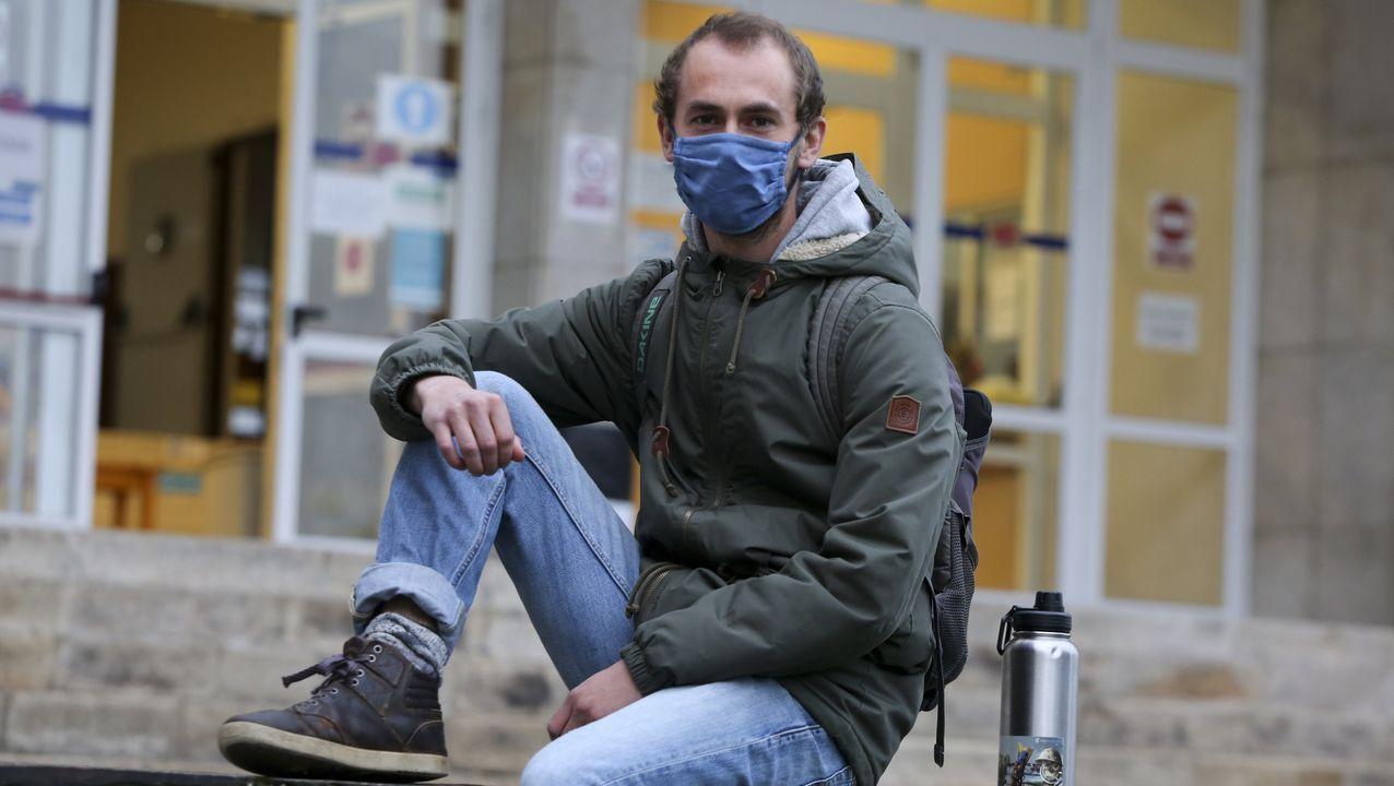 Julius, alemán de 25 años, es uno de los 21 alumnos extranjeros que acoge el campus este curso