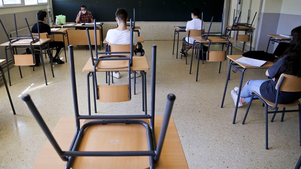 En el IES Río Cabe, de Monforte, se reencontraron los alumnos