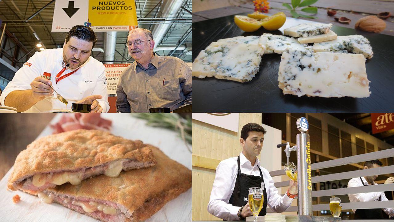 Salón de Gourmets 2018 montaje cachopo cabrales chef.Mejor cachopo con Ternera Asturias
